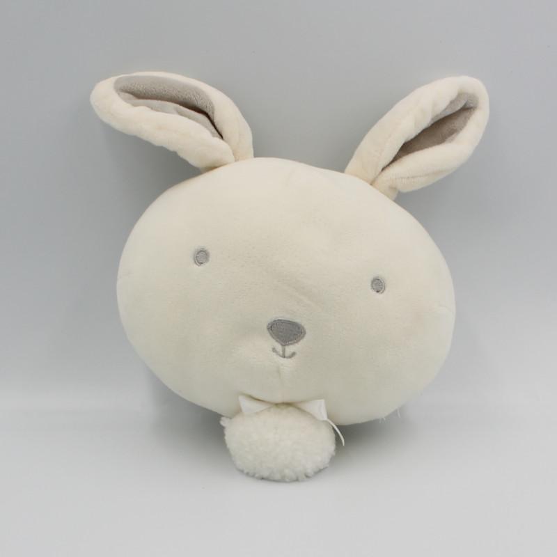 Doudou musical tête de lapin blanc gris KIABI SIMBA TOYS
