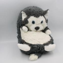 Peluche Cali Pets chien loup gris blanc DUJARDIN JAY AT JAY