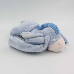 Doudou Bourriquet couché couverture vichy bleu Disney Nicotoy