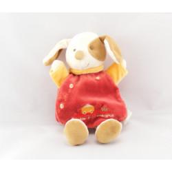 Doudou et compagnie plat Hugo chien rouge avec bébé