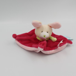 Petit Doudou plat lapin rose cueillir des cerises BABY NAT