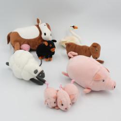 Petites peluches animaux de la ferme vache cochon mouton IKEA