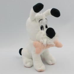 Doudou peluche chien blanc Idéfix avec os rose ASTERIX