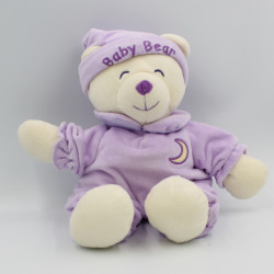 Doudou ours Baby Bear mauve lune GIPSY