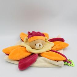 Doudou et compagnie collector ours plat fleur rouge orange TATOO