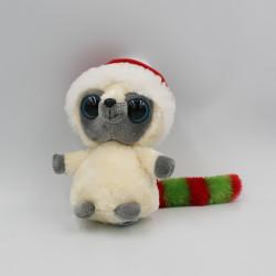 Doudou peluche YOOHOO raton laveur Bonne rouge de Noël