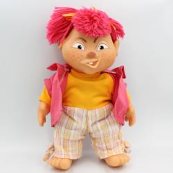Ancienne Poupée sonore Crazy maxi fille tenue rose jaune BERCHET