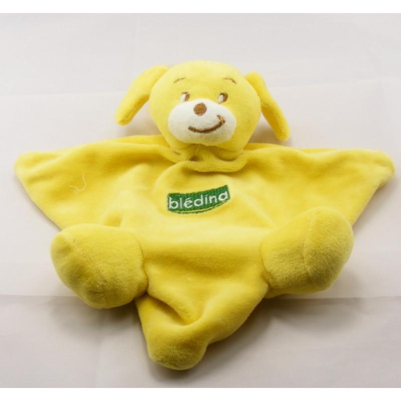 Doudou plat chien jaune Bledina