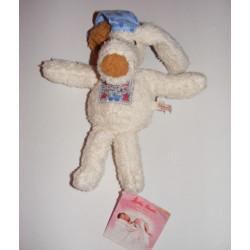 Doudou Chien blanc avec bonnet KATHE KRUSE