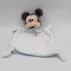 Doudou plat Mickey bleu blanc étoiles DISNEY