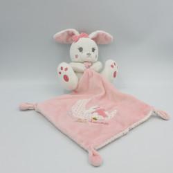 Doudou lapin blanc rose mouchoir Sweet Baby Dreams SIMBA TOYS KIABI