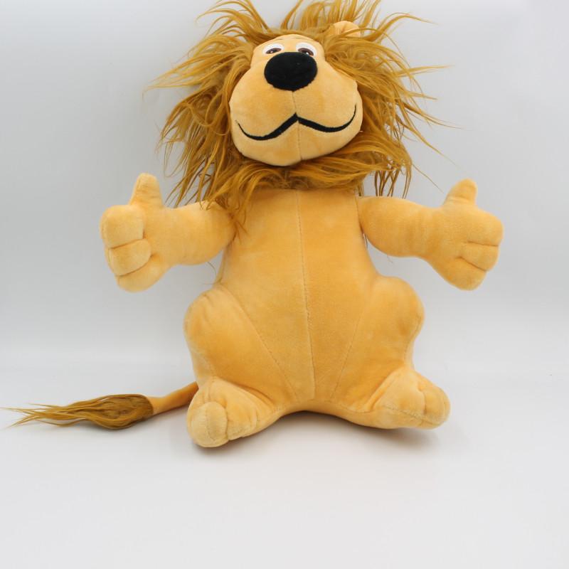 Doudou peluche lion beige CREDIT LYONNAIS LCL