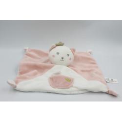 Doudou plat chat rose blanc couronne KIABI SIMBA TOYS