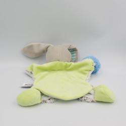 Doudou et compagnie marionnette lapin beige marron vert LOVELY PISTACHE