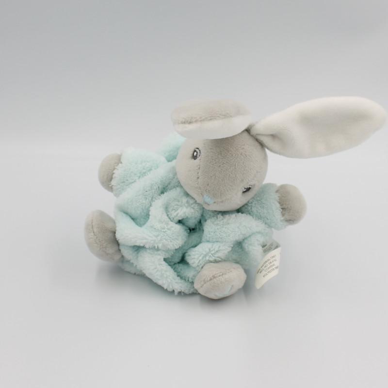 Mini Doudou lapin plume gris bleu KALOO