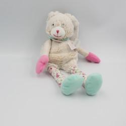 Doudou et compagnie lapin pantin beige bleu rose LES CHOUPIDOUX