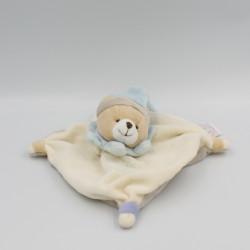 Doudou et compagnie plat ours blanc bleu gris
