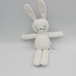 Doudou lapin blanc étoiles BOUT'CHOU BOUTCHOU