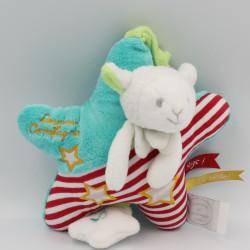 Doudou et compagnie musical étoile vert rouge mouton qui brille Magic