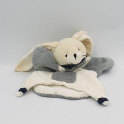 Doudou et Compagnie plat lapin blanc gris seraphin