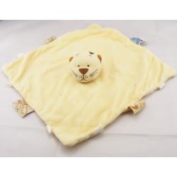 Doudou plat  tigre lion jaune NOUKIE'S