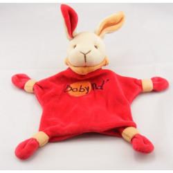 Doudou lapin rouge mouchoir BABY NAT