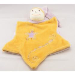 Doudou plat étoile lutin orange Un Rêve de Bébé