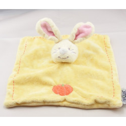 Doudou lapin blanc robe jaune tablier rose INFLUX