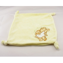 Doudou Plat zip Winnie l'Ourson Jaune Disney Baby