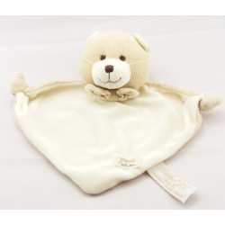 Doudou ours beige blanc TIAMO COLLECTION