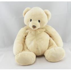 Doudou ours blanc écru NICOTOY