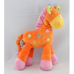 Doudou Girafe rose MOTS D'ENFANTS