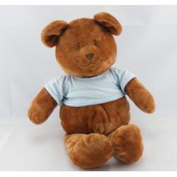 Doudou ours brun tee shirt bleu JACADI