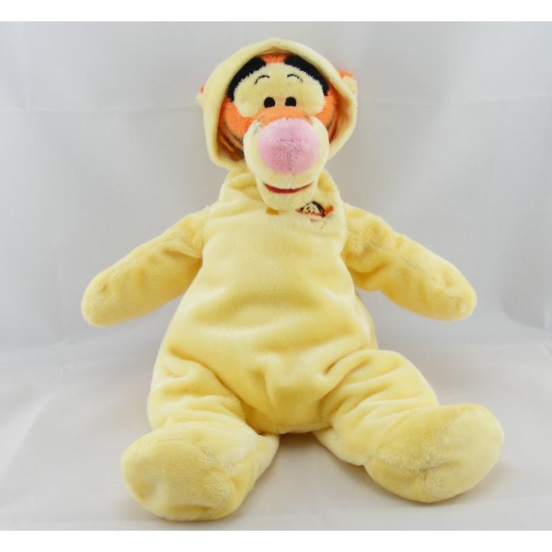 Peluche Tigrou en pyjama jaune Collection DISNEY