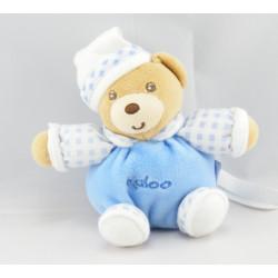 Mini Doudou ours bleu vichy KALOO
