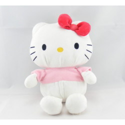 Doudou chat HELLO KITTY rose noeud orange SANRIO LICENSE
