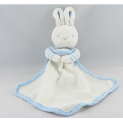 Doudou lapin bleu et son mouchoir Klorane lot de 2