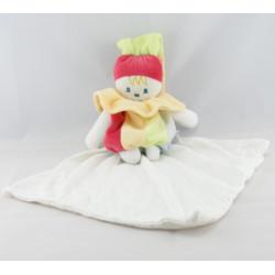 Doudou clown arlequin avec mouchoir SUCRE D'ORGE