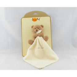 Doudou plat ours marron beige mouchoir Baby nat