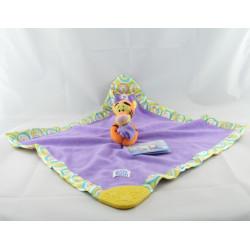 Doudou plat couverture vert satin Bourriquet Disney