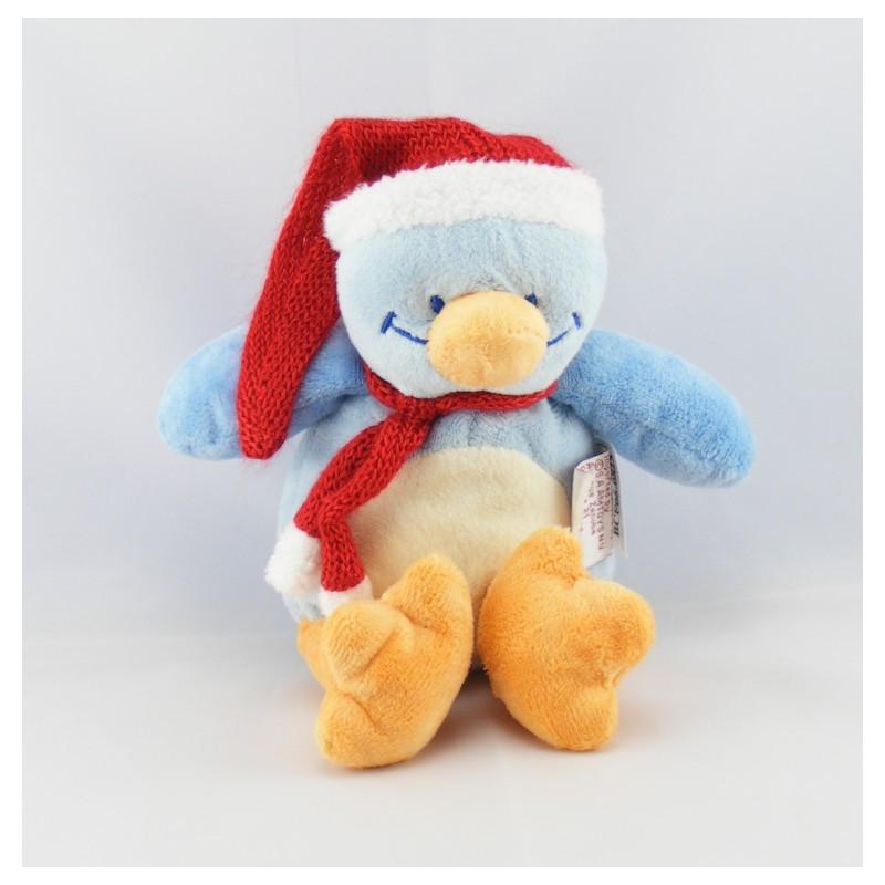 Doudou pingouin bonnet rouge BENGY
