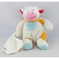 Doudou vache rose avec mouchoir BABY NAT