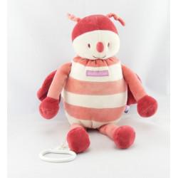 Doudou range pyjama abeille papillon rouge SUCRE D'ORGE
