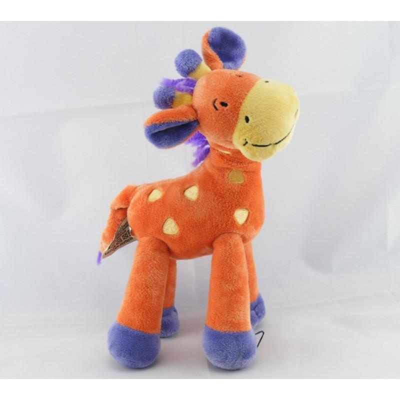 Doudou Girafe orange violet NICOTOY
