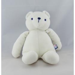 Doudou ours blanc couché SUCRE D'ORGE
