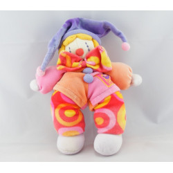 Doudou Gino le clown rose MOULIN ROTY
