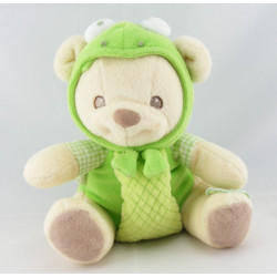 Doudou nature bearries ours déguisé en grenouille verte FISHER PRICE