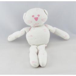 Doudou chat rose vichy carreaux BOUT'CHOU BOUTCHOU
