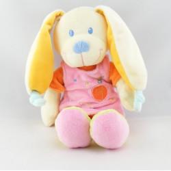 Doudou chien lapin robe rose oiseau maison NICOTOY