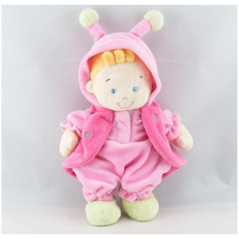 Doudou fillette déguisé en coccinelle rose NICOTOY